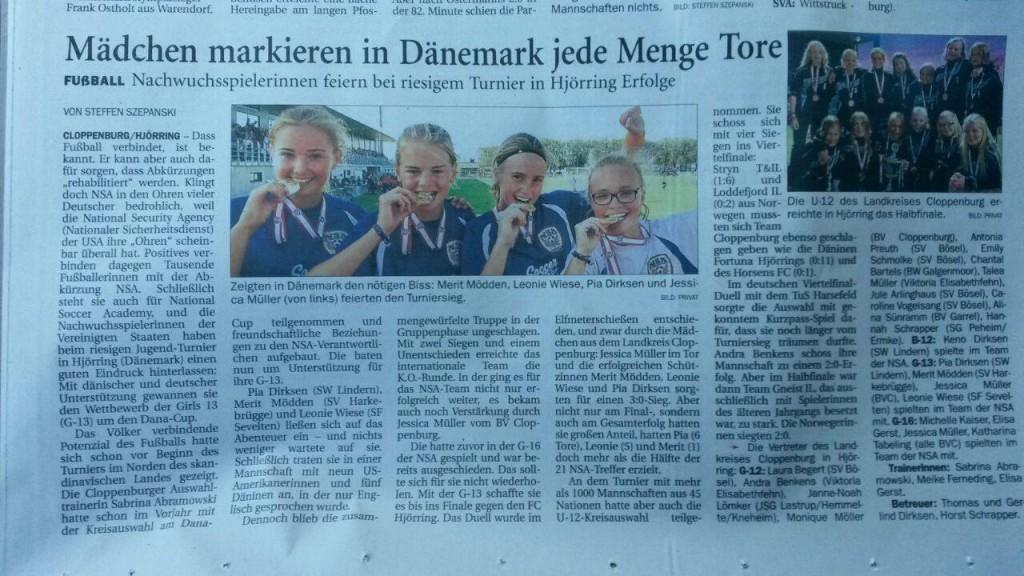 German Players in Cloppenburg Newspaper_1